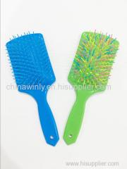 フラット青いプラスチック製のプロのヘアブラシ