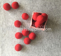 wool dryer balls for red cloth