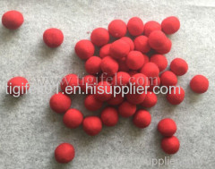 7cm red wool laundry balls