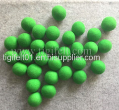 green color wool laundry balls