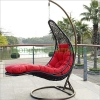 Colorful rattan hammock with cushions outdoor wicker hammocks
