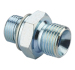 BSP male double use 60 degree cone seat or bonded seal /BSP male O-ring hydraulic pipe adapter 1BG