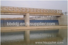 Hoisting system hydraulically controlled by servomotor and accessories for Gate for weir(Spillway) Flap type with rubbe