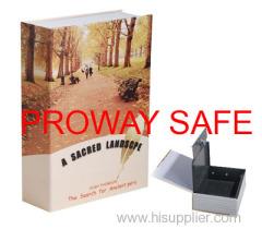book safe storage book box Lockable steel interior with 2 keys