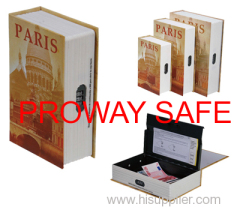 book safes book shaped boxes Lockable steel interior with 3 stages combination lock