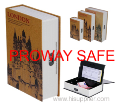 hollow books fake book boxes Lockable steel interior with 3 stages combination lock