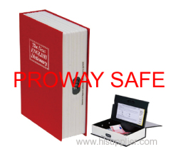 safe book safe secret box book Lockable steel interior with 3 stages combination lock