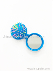 Round foldable Mini Plastic Professional hairbrush