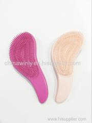 Sスタイルプラスチックプロのヘアブラシ