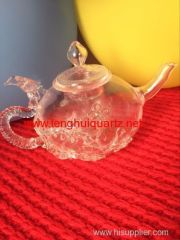 High temperature resistant quartz teapot
