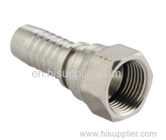SAE Female 90 degree Cone Seat hydraulic compression fitting for hose barb