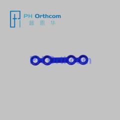 Титан Мини замок Прямая пластина 4 отверстия с совпадающими разрыв с 2.0mm блокирующего винта Кранио челюстно-лицевой хирургии