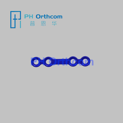 Titanium Mini Locking Straight Plate 4 holes with gap matching with 2.0mm locking screw Cranio Maxillofacial Surgery
