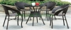 Outdoor rattan dining table chair set furniture new design