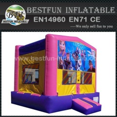 Inflatable jumping house with frozen theme