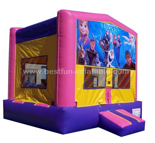 Full printing Frozen inflatable bouncer castle