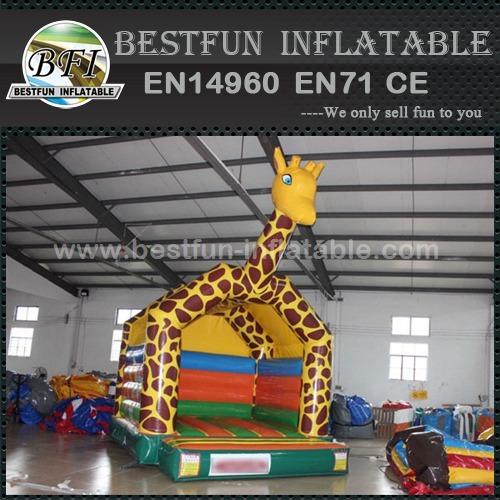 Giraffe theme park inflatable bouncer for kids