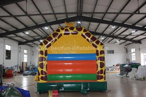 Giraffe inflatable children bounce house trampoline