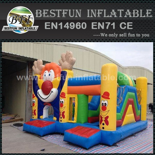 Clown combo inflatable bouncer