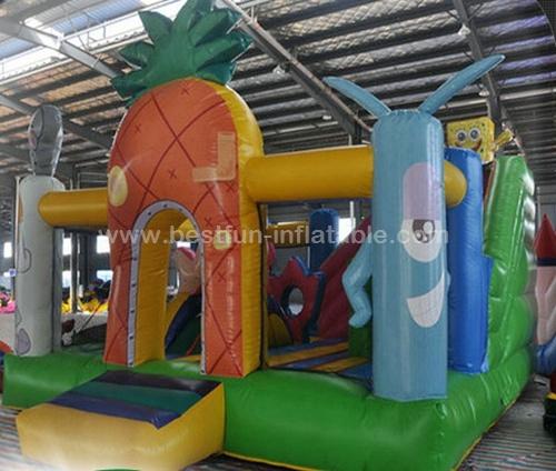 Commercial grade spongebob inflatable bounce house