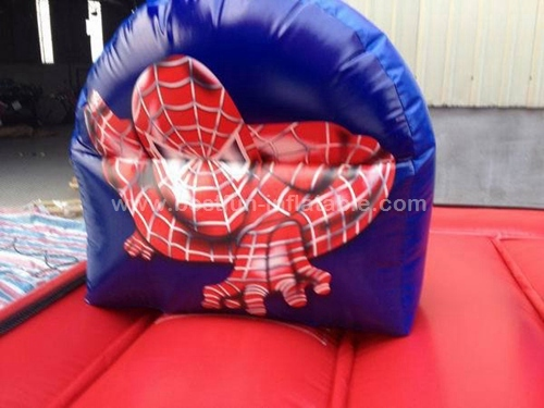 Commercial spiderman inflatable bouncy castle combo with climbing and slide