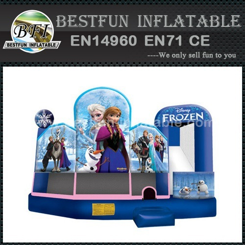 Inflatable frozen jumping bouncer