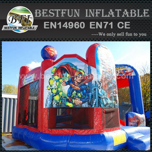 Commercial inflatable superhero bounce houses