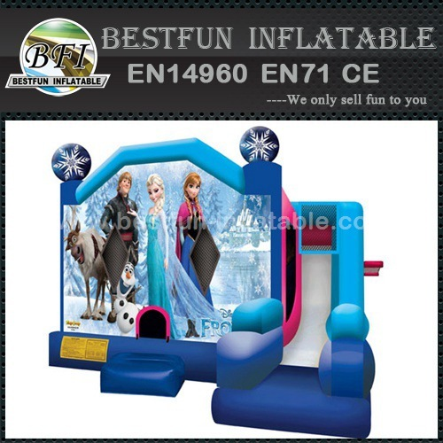 Customized Inflatable frozen Combo bouncer