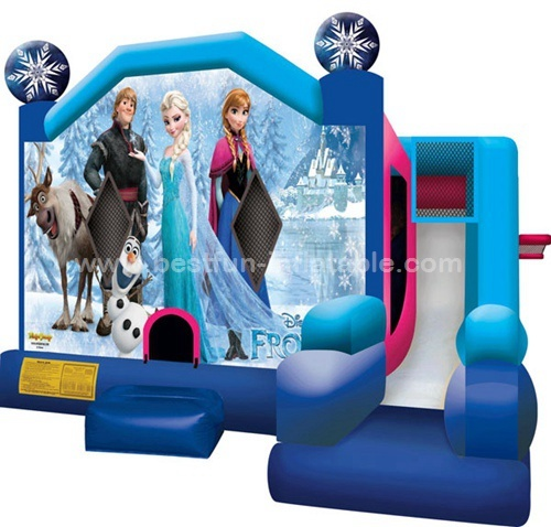 Latest design Frozen inflatable combo bouncer and slide