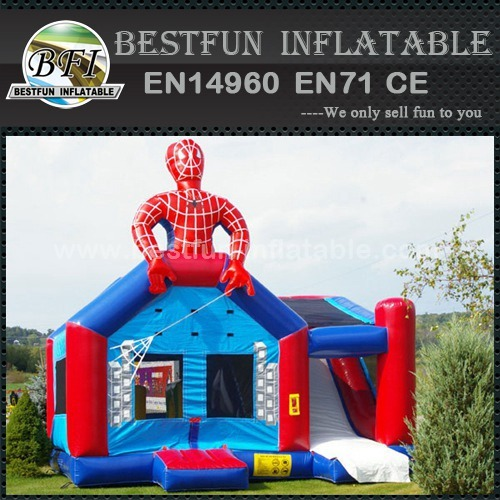 Inflatable jumping caslte bounce spiderman