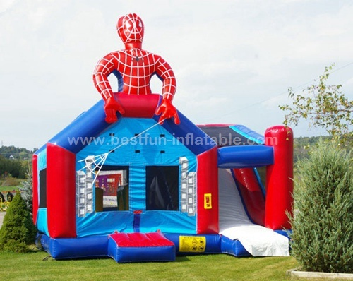 Spiderman bounce house inflatable combo slide bouncer