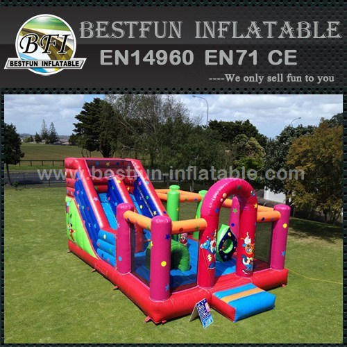 Multi function inflatable bouncer combo