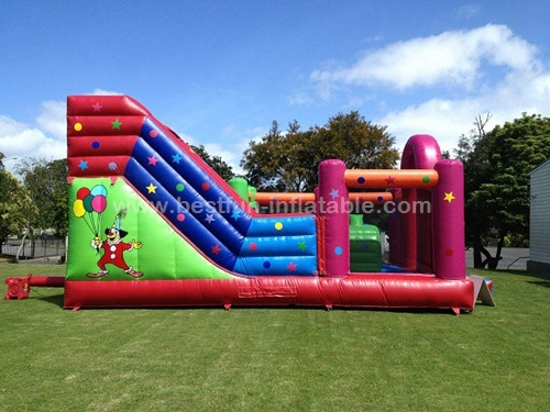 Ultimate combo inflatable bounce house with slide