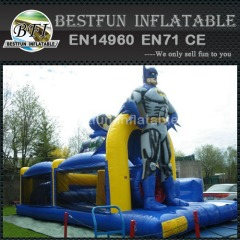 Hot sale batman inflatable castle with slide