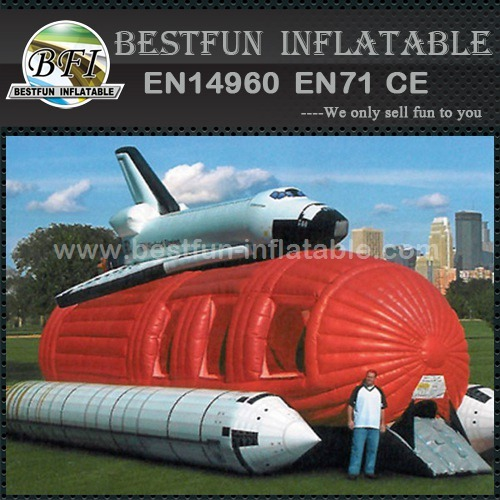 Inflatable flying helium spaceship for advertising