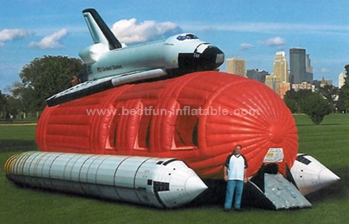 Commercial Inflatable space shuttle bounce