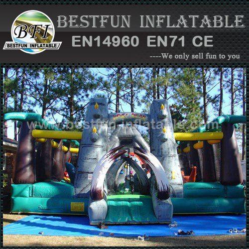 Dinosaur Paradise inflatable slide