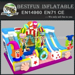 Inflatable Bouncer with Clown circus