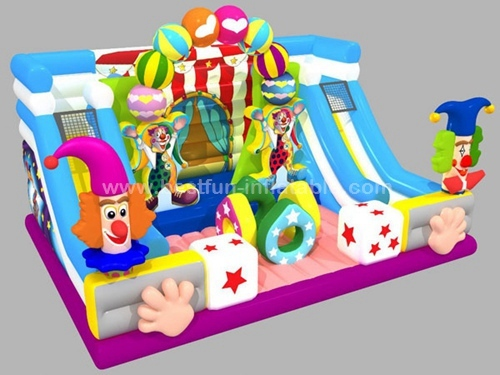 New Design Inflatable happy circus bounce slide