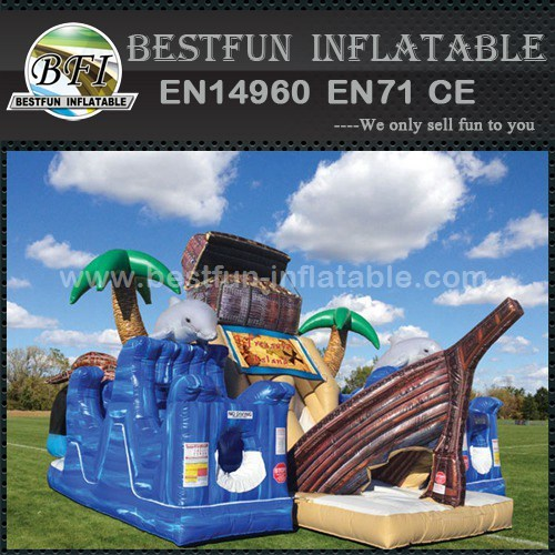 Large Inflatable treasure island playground
