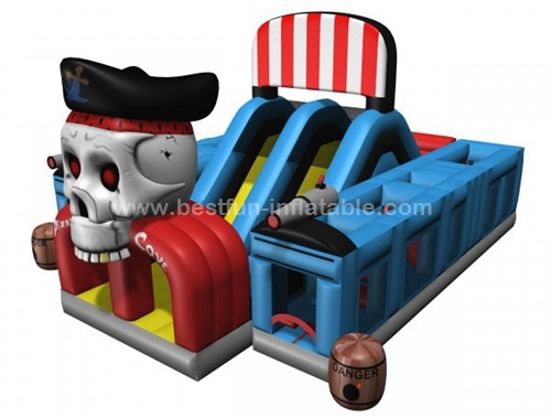 Pirates-cove-ABC inflatable-obstacle-course slide