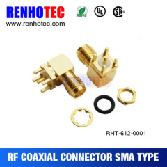 sma male pcb mount rf coaxial connector sma female right angle pcb mount connector