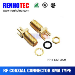 rohs approved SMA Female r/a for pcb bulkhead connector sma connector pcb