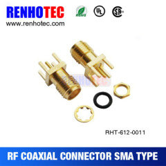 Gold plated SMA Male Plug mount on PCB connector