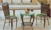 Outdoor patio rattan table chair set furniture