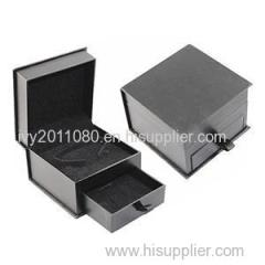 Black Paper Drawer Jewelry Box
