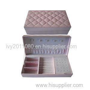 Leather Jewelry Box For Earring And Ring