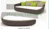 Ikea wicker rattan sectional sofa bed set furniture