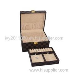 Artificial Leather Jewelry Box