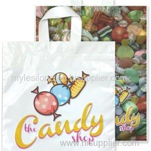 2 Sides Imprinted Full Color 15Wx18H Soft Loop Handle Bags